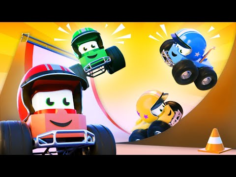 最好看的儿童汽车卡通片 - 障碍赛道 - 卡车闯天下 Truck Games