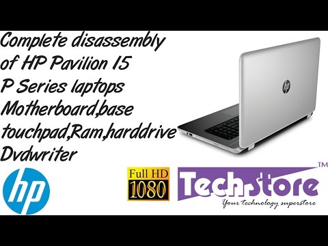 HP Pavilion 15 : Disassembly for Upgrade : SSD M2 + RAM
