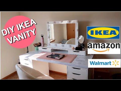 IKEA VANITY DESK and makeup organization
