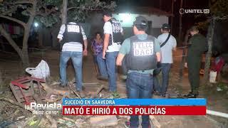 Santa Cruz: Sujeto hiere a un policía y mata a otro por evitar ser arrestado