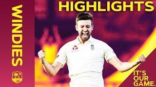 Mark Wood Heaps Pressure On Windies    Windies vs England 3rd Test Day 2 2019 - Highlights
