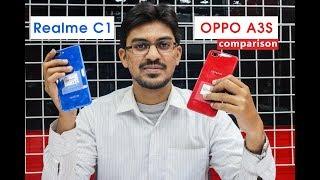 Realme C1 vs Oppo A3s Comparison   Speed Test, Camera Comparison