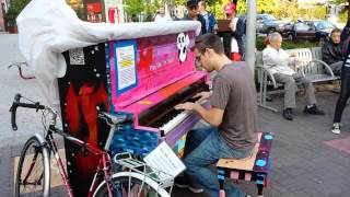 Boston Street Piano Playing
