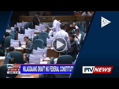 Nilagdaang draft ng federal constitution, isusumite kay Pres. #Duterte