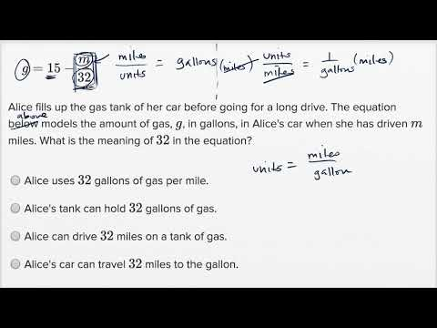 Interpreting linear functions — Harder example (video) | Khan Academy