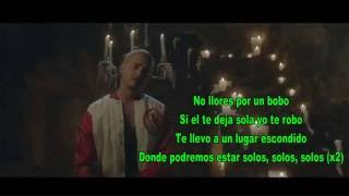 J Balvin - bobo (lyrics - video con letra)