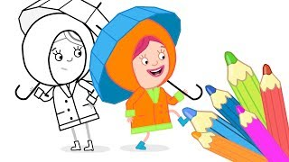 #РАСКРАСКИ Смарты! Развивающие мультики для детей: #СМАРТА и Чудо Сумка. Дождевик