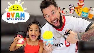 Cutting Open RYAN'S WORLD Toys   FamousTubeKIDS