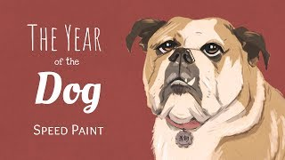 Year of the Dog – Speed Paint