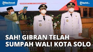 Sah! Gibran Jadi Wali Kota Solo, Ucap Sumpah di Depan Gubernur Ganjar dengan Penuh Penekanan