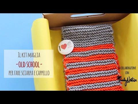 Il kit maglia per fare sciarpa e cappello per bambini