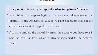 Write Amazon appeal letter with useful tips