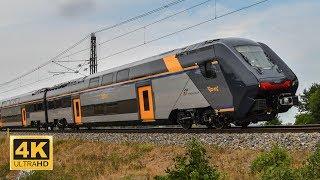Vlak / Train Rock Hitachi Rail Italy (Trenitalia) VUZ Velim test track Czech Republic (4K)