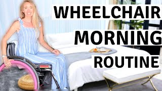 ♿️MOTIVATIONAL WHEELCHAIR MORNING ROUTINE | How I clean, Tidy, and Organise