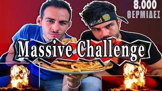 MASSIVE CHALLENGE | 15 Κρέπες 8000 kcals | ft Gabriel D Alex