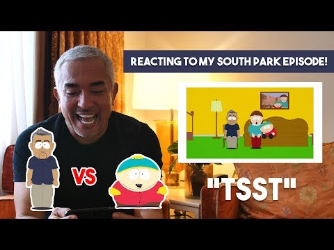 Cesar Millan reacts to his episode in South Park
