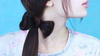 Бантик на волосах ♥  Прически в школу Easy hairstyle for every day