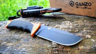 Нож выживания GANZO G8012-OR в нём есть всё