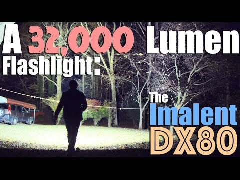 The 32,000 lumen Imalent DX80 Flashlight Review & Full test of the brightest torch yet.