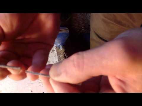 Резец из медицинской иглы.medical needle cutter