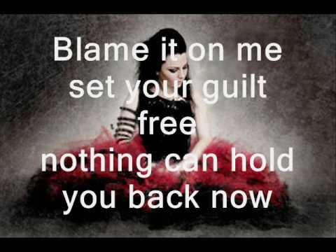 Evanescence- Lacrymosa Lyrics on Screen