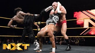Ricochet & Velveteen Dream Vs. Lars Sullivan   Handicap Match: WWE NXT, May 23, 2018