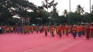 Ratusan Penari Cilik Meriahkan Acara Penyerahan Api Obor Asian Games di Balai Kota Jakarta