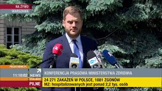 SZOK !!! Konferencja prasowa premiera Morawieckiego, MZ Szumowskiego i MSWiA Kamińskiego