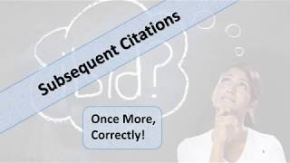 Subsequent Citations