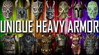 Skyrim - All Unique Heavy Armor Pieces And Sets