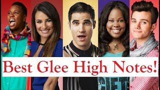 Glee Best High Notes! D5-C6 (Amber, Lea, Charice, Demi, Chris...)