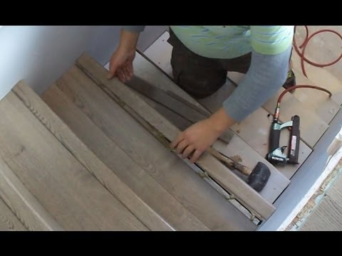 Laminate Stairs Installation How To Install Stair Tread Riser Overlap Nose Tips Mryoucandoityourself Mp3