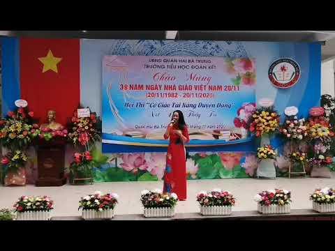Tiết mục dự thi Cô giáo tài năng duyên dáng của cô giáo Nguyễn Thị Hà