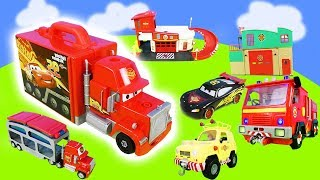 Cars Toys & Firefighter Sam: Toy Cars, Fire Department Rescue Station for Children