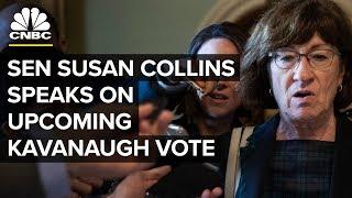 GOP Senator Susan Collins speaks on upcoming Kavanaugh vote - Oct. 5, 2018