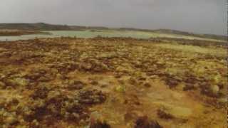 Driving through the Danakil Desert to Dallol, Salt Mine in Ethiopia