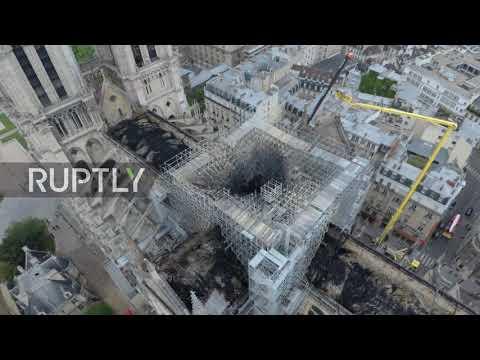 Παναγία των Παρισίων: Σοκαριστικό βίντεο από drone αποκαλύπτει το μέγεθος της καταστροφής
