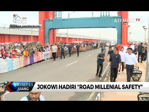 "Jokowi Hadiri ""Road Millenial Safety"" di Palembang"
