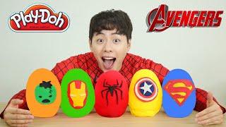 Superhero Surprise Eggs Opening With Batman Spiderman Superman Hulk Ironman ToysReview