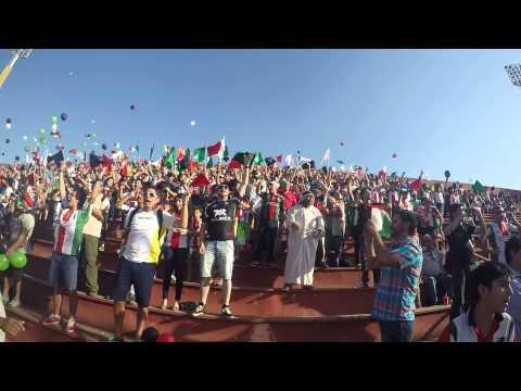 """""""Salida barra Los Baisanos contra Boca Jrs."""" Barra: Los Baisanos • Club: Club Deportivo Palestino"""