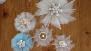 Tulle Flowers Tutorial (nice and easy)