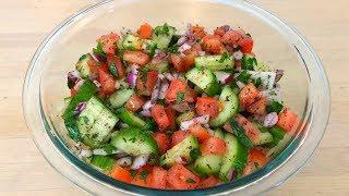Simple Middle Eastern Salad | Easy Lemon Vinaigrette - Episode 39