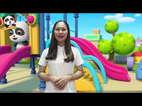 Cô giáo Gia Thị Kim Cúc - Kỹ năng chơi cầu trượt an toàn