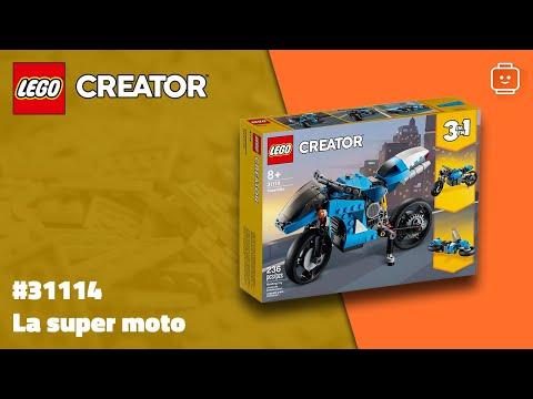 Vidéo LEGO Creator 31114 : La super moto