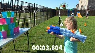 NERF Fortnite SUPER SOAKER OBBY & GEAR TEST for KIDS! KIDCITY