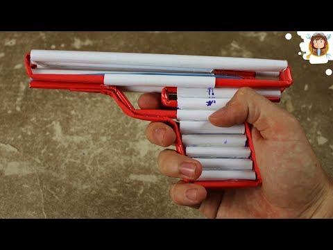 Hướng dẫn làm súng hơi đồ chơi đơn giản (Pistol bằng giấy)