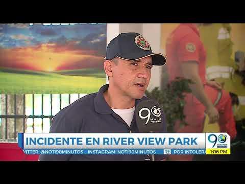 En video: accidente en atracción mecánica del River View Park de Cali