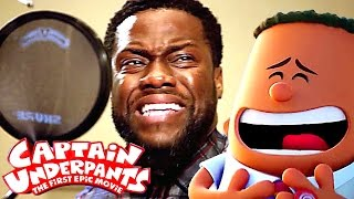 Go Behind The Scenes of CAPTAIN UNDERPANTS with Kevin Hart ! (Animation, 2017)