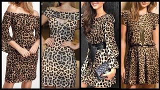 Adorable And Attractive Leopard Print Mini And Midi Dress Design Ideas 2k20