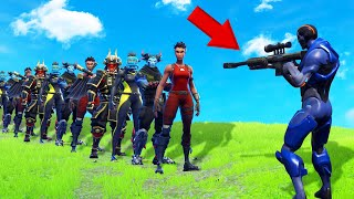 HOW MANY PEOPLE Can You KILL With 1 BULLET In Fortnite?! (Battle Royale)